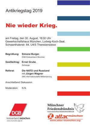 Antikriegstag 2019 München