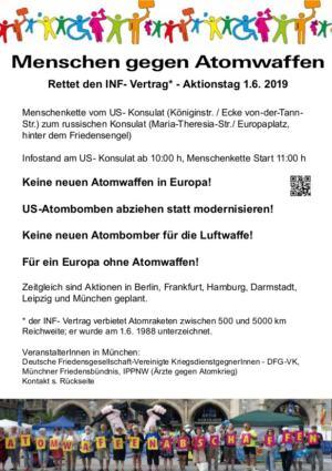 Rettet den INF-Vertrag - Aktionstag 1.6. 2019
